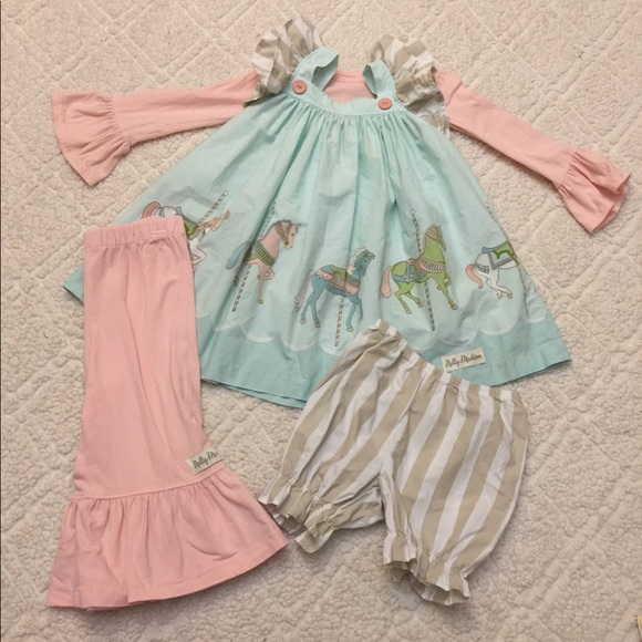 Nelly Madison Other - 4pc Nelly Madison Coney Island Carousel Dress